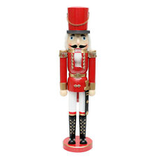 Gigantesco Schiaccianoci Soldato Rosso Colorato Dipinto 50 cm 30189