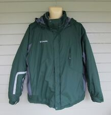 Columbia Mens Dark Green & Gray Casual Waterproof Winter Jacket Coat  XL