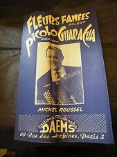 Partition Fleurs fanées Picolo Guaracha Michel Roussel  Music Sheet