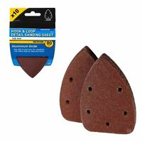 10 x Hook and Loop 140mm Detail Sanding Sheets 80 Grit Palm Sander Mouse Pads