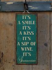 IB Laursen Metallschild, IT´S A SMILE, IT´S A KISS, IT´S A SIP OF WINE..., NEU