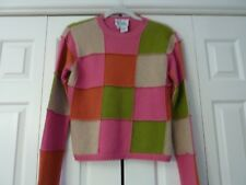 LILLY PULITZER Size S Pink Green Orange Beige Lambswool Blend Sweater EUC