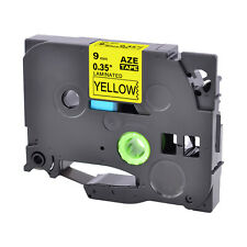 1pk Tz 621 Label Tape Black On Yellow Tze 621 For Brother P Touch Pt 1830 9mm8m