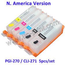 5PCS 270 271 refillable cartridge for MG5720 6820 7720 TS5020 6020