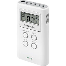 Sangean FM-Stereo / AM Personal Pocket Radio - Model DT120WH - Brand New