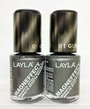 LAYLA- MAGNEFFECT Magnetic Effect 3D Nailpolish 01 GUN METAL - NEW FROM ITALY