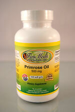 Evening Primrose Oil 500mg, ADHD, PMS, arthritis - 100 soft gels. Made in USA.