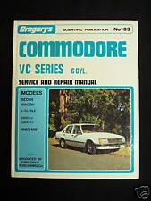 HOLDEN COMMODORE-VC-6 CYL.1980-81- WORKSHOP MANUAL