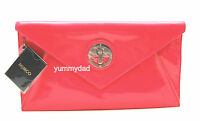 MIMCO MOLTEN ENVELOPE CLUTCH IN PATENT LEATHER IN NEON PINK BNWT RRP$229
