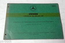 Teilekatalog Spare Parts List Mercedes Benz Unimog Type M 180 Bm. 952 953 958