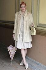 Saga Mink vison abrigo visón Pelz coat beige claro 80er True vintage 80´s hopka