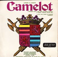 "CAMELOT soundtrack excepts 4 track ep BR 339 uk bravo 7"" PS EX/EX"