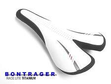 New BONTRAGER RaceLite TITANIUM Hollow Rails Road Leather Saddle   MSRP: $110.00