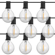 New listing 50Ft Outdoor String Lights G40 Globe Bulbs Patio Yard Garden Waterproof Lighting