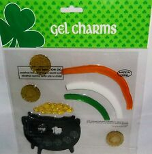 St.Patrick's Day Window Gel  POT OF GOLD WITH RAINBOW