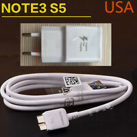 EU plug Adaptive Fast Charging Charger USB 3.0 Cable FOR Samsung Galaxy Note3 S5