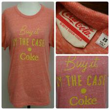 Coca Cola Womens T Shirt SZ XS Vintage Style Heathered Light Orange Official