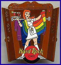 Hard Rock Cafe NEW YORK 2001 GAY PRIDE PIN Natl Coming Out Day Waitress HR #6469
