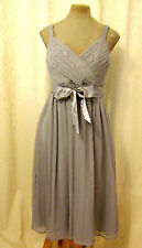 Grey Floaty Chiffon Silver Sequin Marilyn Monroe 1950s Party Prom Dress 10