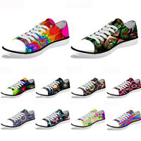 Women Men Casual Athletic Sneakers Low Top Canvas Shoes Walking Running Trainers