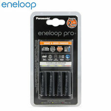 New Panasonic Eneloop Pro Quick Charger 2hour charging with 4 AA 2500mAh Battery