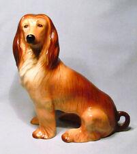 Kingston Pottery England Hand Painted Afghan Dog Statue Figurine