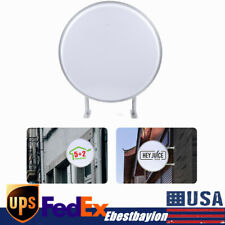24 inch Round LED Advertisment Projecting Light Box Blank Sign Double Sided
