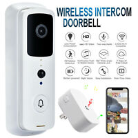 Wireless Doorbell WiFi Video Smart Talk Door Ring Security HD Camera Bell