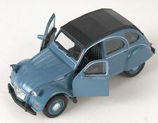BLITZ VERSAND Citroen 2 CV geschl. blau / blue Ente Welly Modell Auto NEU & OVP