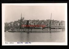 More details for malta h.m.s. orion british warship r. ellis real photo postcard e20c - ma621