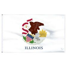3x5 State of Illinois Flag 3'x5' House Banner Super Polyester Grommets premium