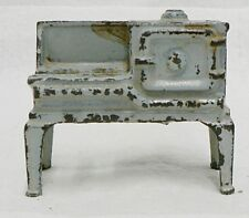 ANTIQUE CAST IRON TOY BLUE KITCHEN STOVE