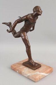 Orig STERETT-GITTINGS KELSEY Modernist Bronze Sculpture MARATHON Race Runner Man