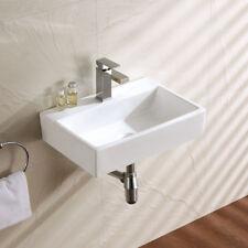 Powder Room Small Wall Hung Ceramic Wash Basin With Bracket wall hung basin