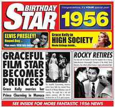 62nd  BIRTHDAY GIFT - 1956 Retro Brit Pop Music CD Year Greeting Card