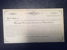 Midland Railroad Co. of New Jersey 1880.