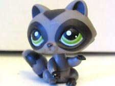 2006 Littlest Pet Shop Gray Ring Tailed Raccoon #450 Green Eyes Hasbro LPS