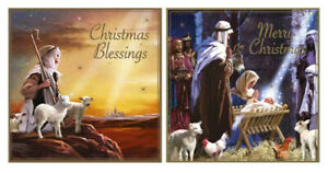 12 Pack Religious Christmas Cards Jesus Square Luxury Traditional cards 2 Design