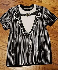 Nightmare Before Christmas Jack Skellington Cosplay Tux T-Shirt Medium Disney
