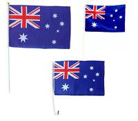 2-8x Australia Day Flag On Stick Hand Held Waving Large Oz Car Australian Banner