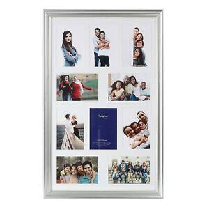 Hampton Frames Metro Silver Multi Aperture Photo Frames For Interior Design