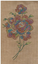 Rhinestone iron on Bling Transfer DIY Hot fix sparkly  Applique colorful flower