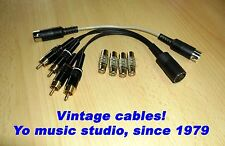 3-5 pin DIN-RCA-DIN 2-way Play-Rec In-Out Male-Female Phono Aux Line cable set+G