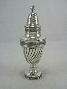 "Antique European Continental 800 Silver Sugar Shaker 8"" Muffineer 222 Grams"