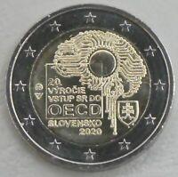 2 Euro Slowakei 2020 20 Jahre Mitgliedschaft in der OECD unz.