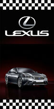 LEXUS AUTO DEALER VERTICAL AVENUE POLE BANNER SIGNS