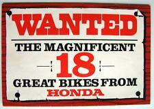 HONDA RANGE - Motorcycle Brochure - c1973: C90, ST70, CB200, CD175, PF50R + More