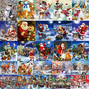 DIY Oil Painting Paint Christmas By Number Kit Digital Home Wall Decor Art Canva