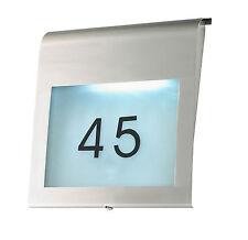 Hausnummer FERDINAND Edelstahl LED Lampe Leuchte Außenleuchte Wandleuchte