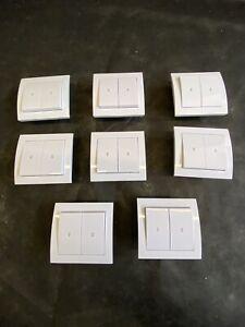 8 X Rollladen-Wipp-Schalter Rollo-Taster / Tast-Schalter Jalousie-Schalter UP